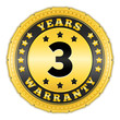 Three Years Warranty Golden Badge