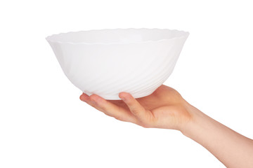 bowl on hand