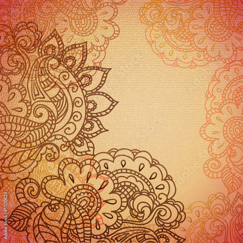 Vintage paisley ornament background
