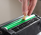 Cleaning printer toner cartridge