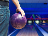 Man with bowling ball