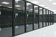 canvas print picture - CPU Unit Server Room Data Center