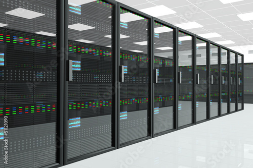 canvas print picture CPU Unit Server Room Data Center