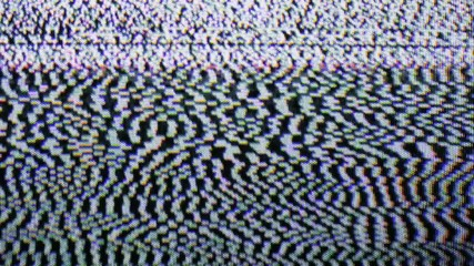 1920x1080p video - Poor signal and noise on the old TV screen