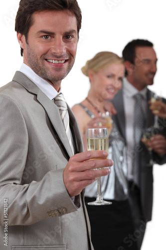 People drinking champagne