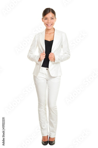 Business woman young professional standing in suit