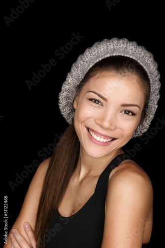 Asian woman modern hipster portrait