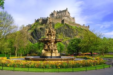 Ross fountain landmark in Edinburgh, Scotland