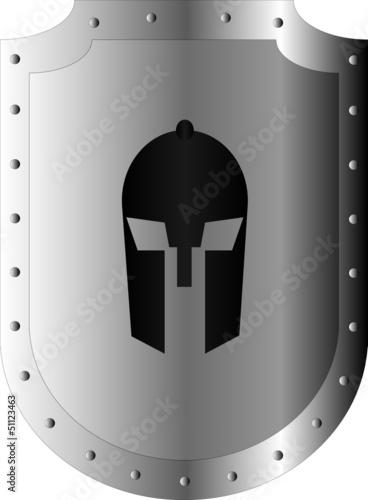 Ritter Helm Schild Vector