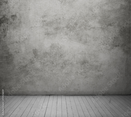 wood floor and concrete wall textured