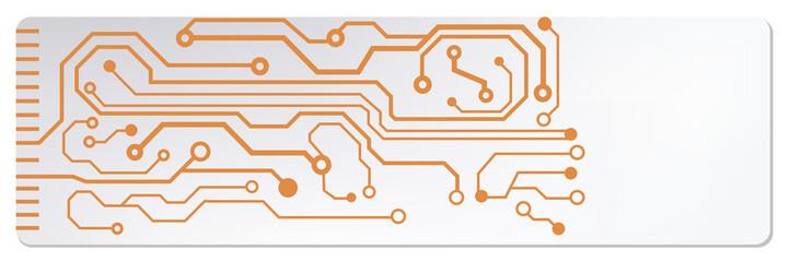 web circuit board techno banner. eps10 vector illustration