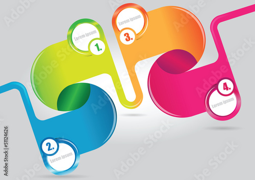 Abstract color vector infographics background