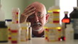 Older man distressed about prescription medicine