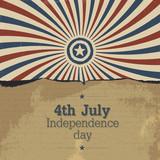 Poster design for 4th july celebration. Vector, EPS10