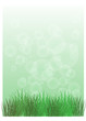 A stationery with green grass