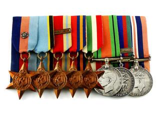 Canadian pilot World War II medals
