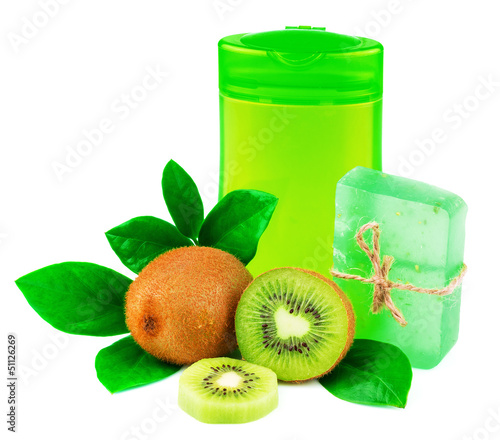canvas print picture Shower products with fruit