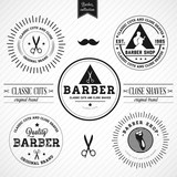 Set of vintage barber shop