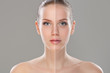 Retouched woman face