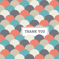 seamless pattern background vector, thank you card
