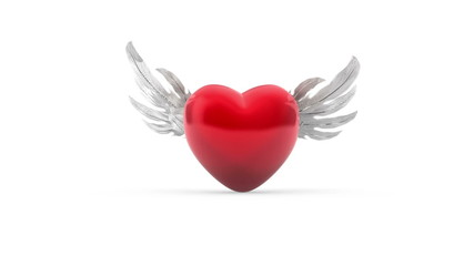 Heart with Wings plus Alpha Channel