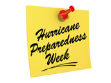 Hurricane Preparedness Week White background