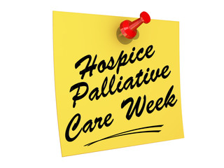 Hospice Palliative Care Week white background