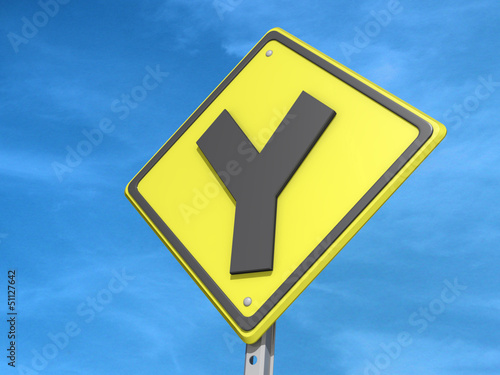 Y Intersection Yield Sign