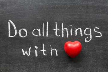 do things with love
