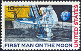Neil Armstrong setting foot on Moon (USA 1969)