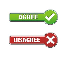 agree and disagree button sets