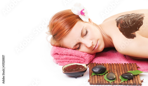Chocolate massage in the SPA