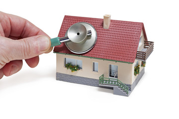 Haus, Stethoskop, Energiecheck