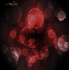 red abstract lights disco background. Square pixel mosaic vector