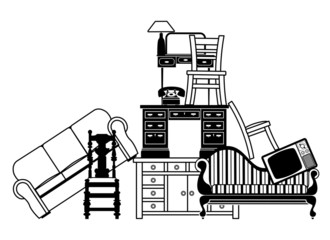 Pile of furniture