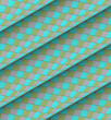 diagonal tiled blue green gray roll shape backdrop