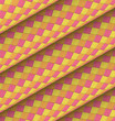 diagonal tiled orange yellow pink roll shape backdrop