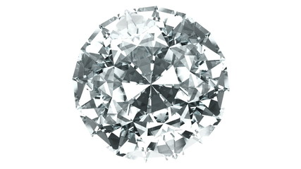 spinning blue 3d diamond from top view