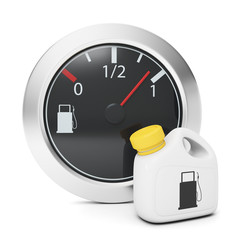 Sensor and fuel canister. Car maintenance and repair, graphics