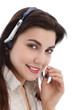 Beautiful call center agent