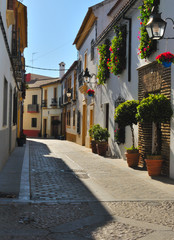 Street in the historic downtown of Cordoba, Spain.