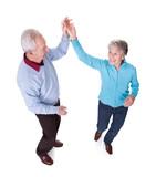 Fototapety Portrait Of Senior Couple Dancing