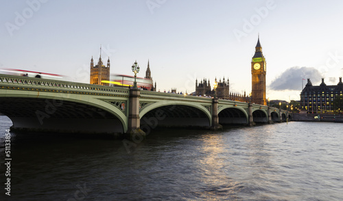 Dusk at Westminster Bridge
