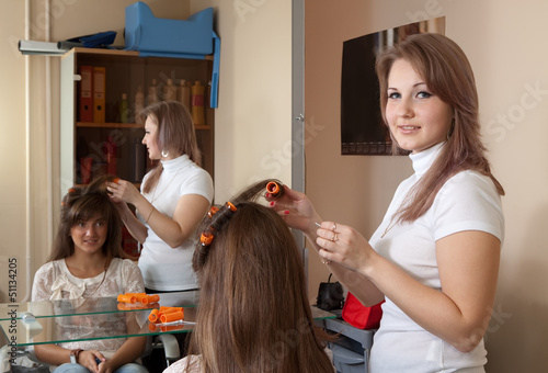 Female hairdresser
