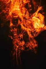 Fiery smoke