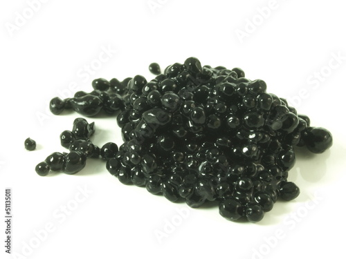 Caviar, close up, isolated