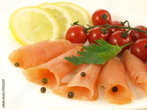 Salmon, isolated