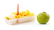 Choosing a healthy apple or an unhealthy portion of French fries