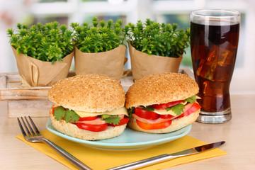 Appetizing sandwiches