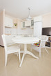 rustique white  kitchen with dinning table